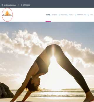 Yoga Website Developed by Khushi Web Solutions