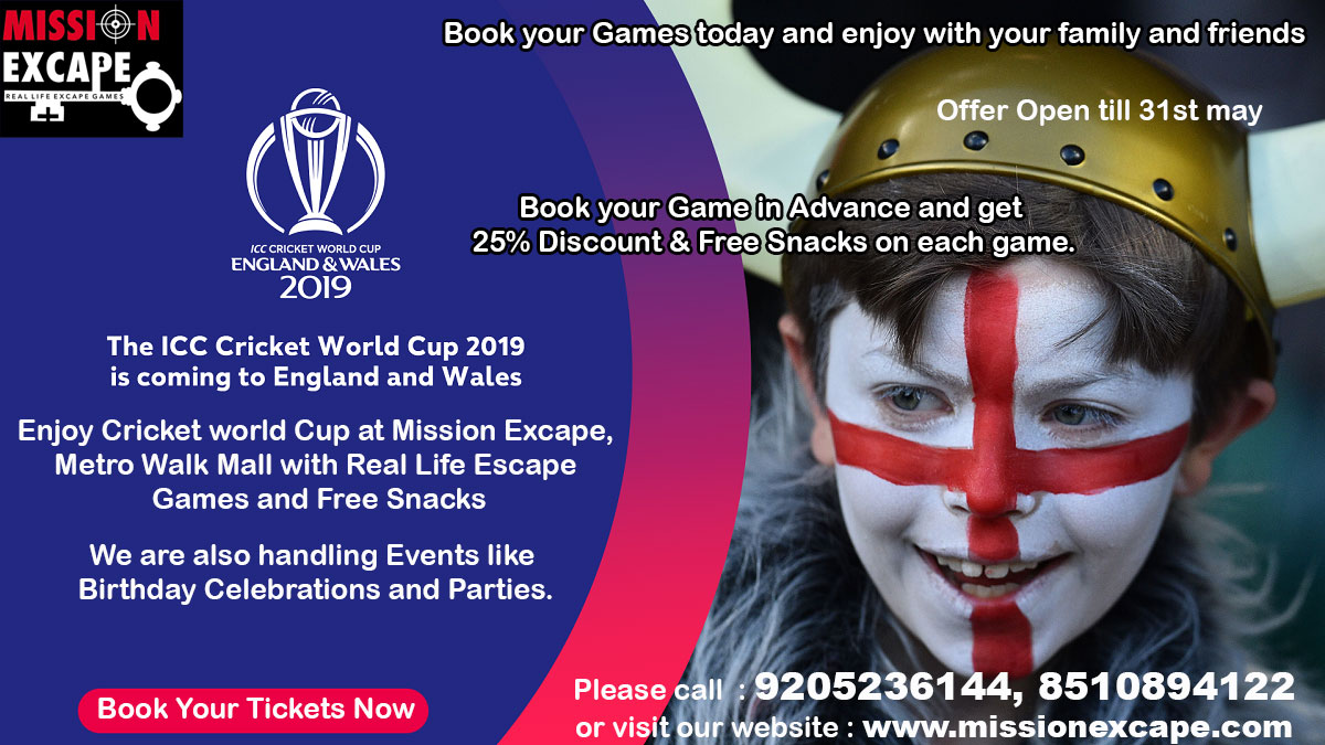 mission excape Cricket World cup