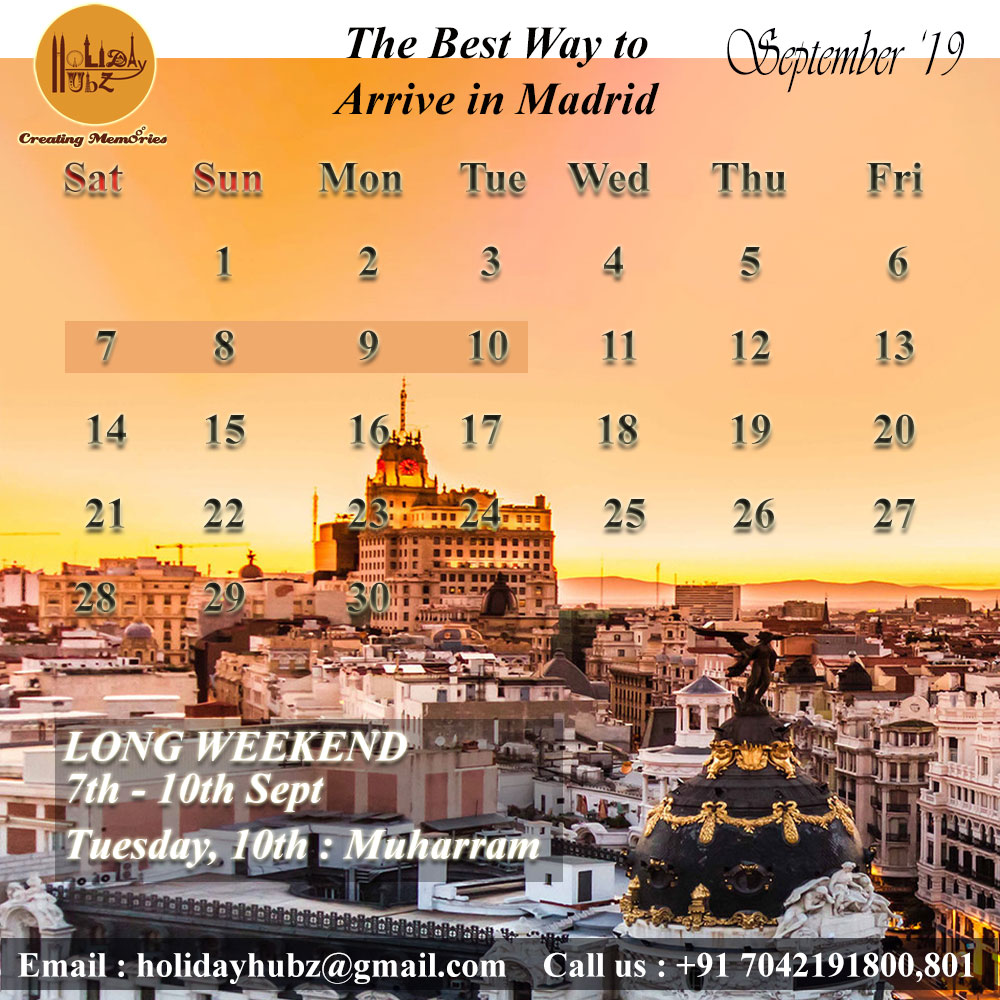 holiday hubz's september travel calendar