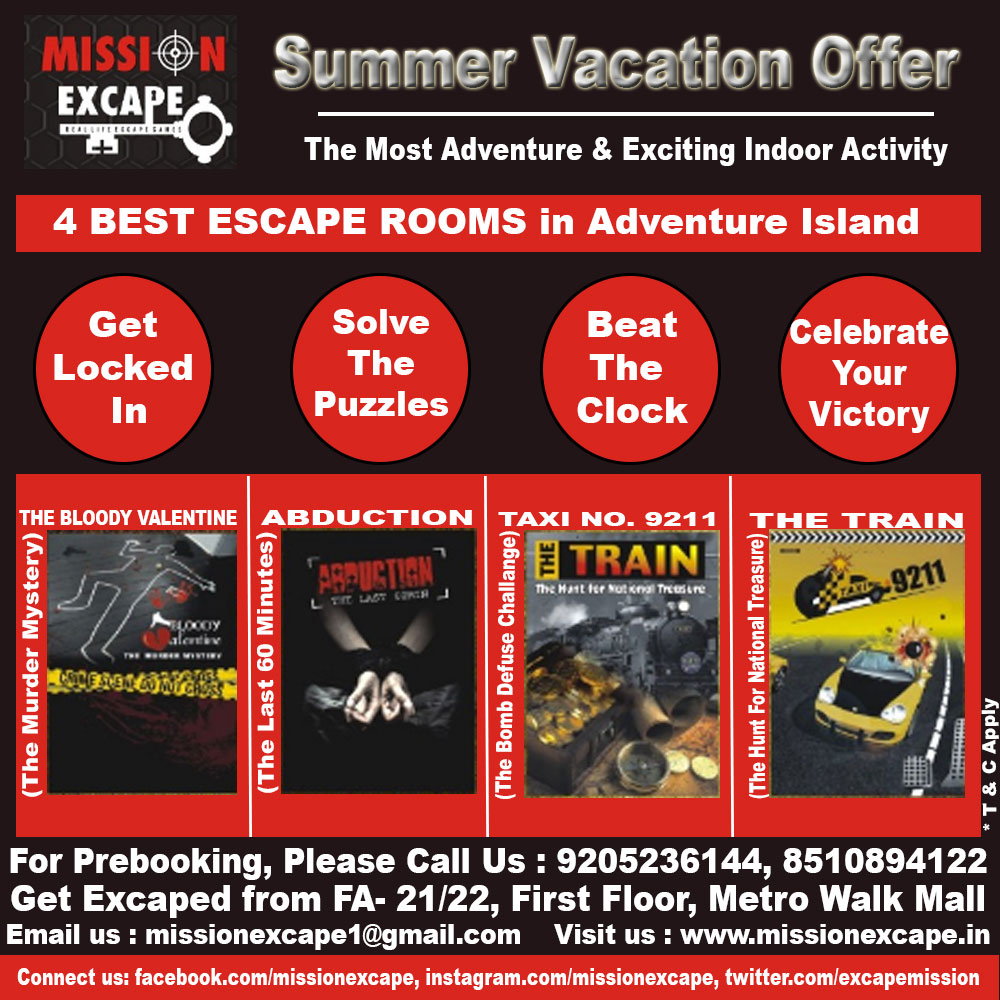 mission excape summer vacation offer