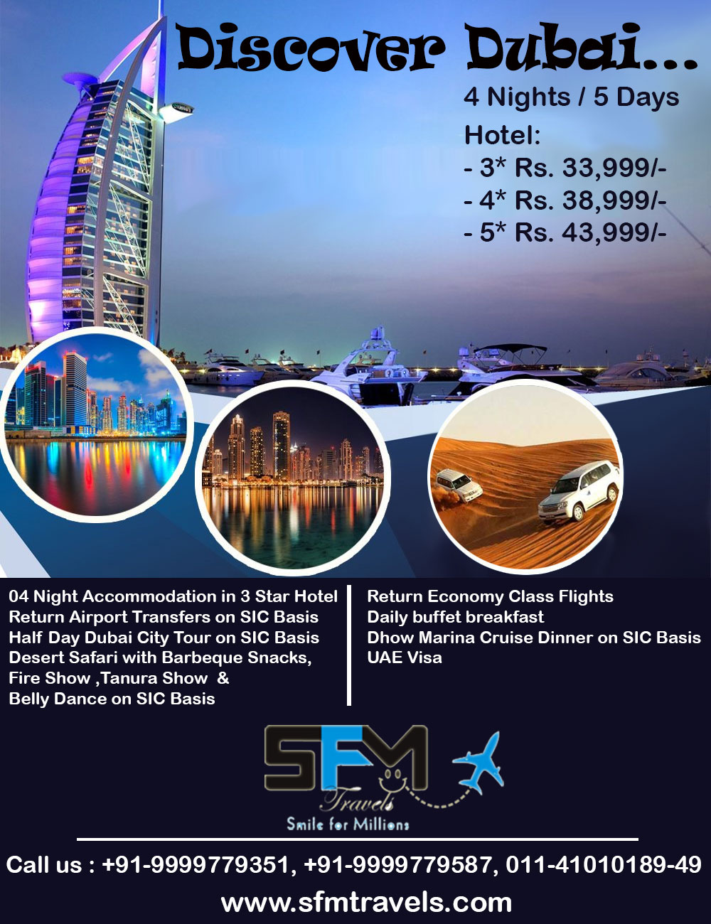 sfm travels dubai tour package
