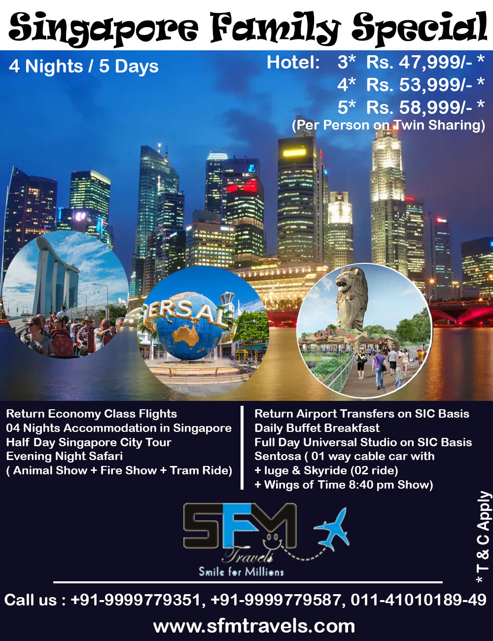 sfm travels singapore family special tour package