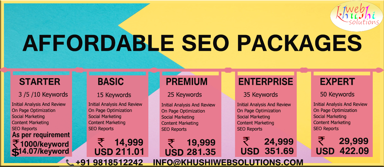 seo package rate list