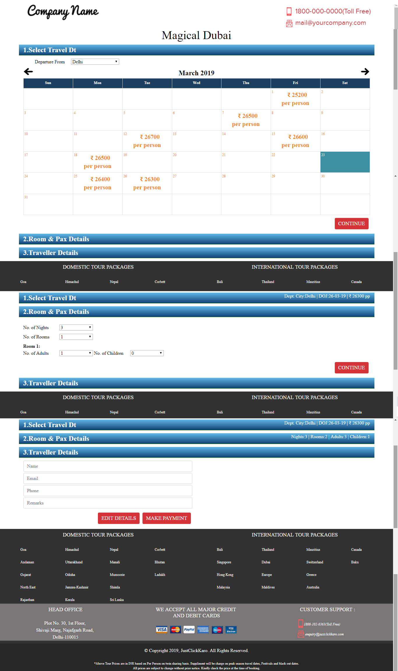 online hotel booking template